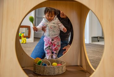 Creative play in the toddler room
